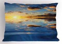 Denizde Gün Batımı Yastık Kılıfı Gökyüzü Bulut