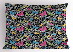 Rengarenk Kelebek Yastık Kılıfı Trend