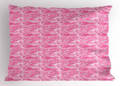 Zebra Desenli Yastık Kılıfı Pembe Beyaz Şık