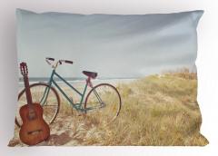 Gitar ve Bisiklet Yastık Kılıfı Deniz Yaz