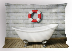 Banyo Temalı Yastık Kılıfı Antik Oda Küvet Şık