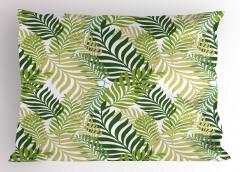 Yaprak Desenli Yastık Kılıfı Yeşil Çeyizlik Şık