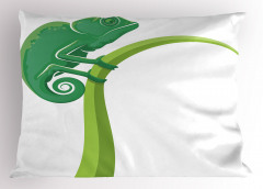 Kertenkele Desenli Yastık Kılıfı Yeşil Çocuklara