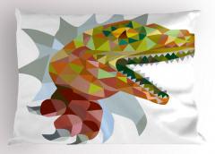 Dinozor Desenli Yastık Kılıfı Rengarenk Trend