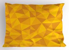 Üçgen Desenli Yastık Kılıfı Sarı Turuncu Şık