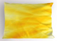 Gün Doğumu Temalı Yastık Kılıfı Sarı Dalga Işık