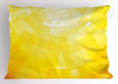 Sarı Arka Planlı Yastık Kılıfı Dekoratif Şık