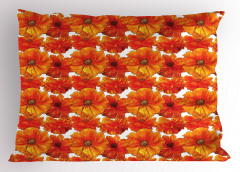 Gelincik Çiçeği Desenli Yastık Kılıfı Romantik Gelincik Çiçekleri