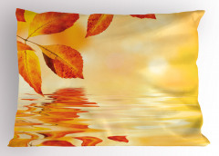 Büyüleyici Güneş Temalı Yastık Kılıfı Sonbahar Yaprağı
