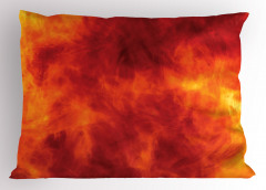 Ateşin Büyüsü Yastık Kılıfı Ateş Temalı Modern Sanat Sarı