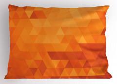Üçgen Desenli Yastık Kılıfı Mozaik Görünümlü Retro Stil