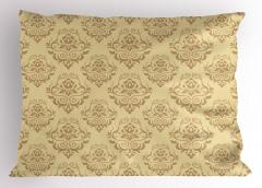 Antik Desenli Yastık Kılıfı Bej Duvar Kağıdı