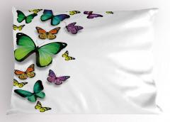 Uçan Kelebekler Yastık Kılıfı Bahar Çeyizlik