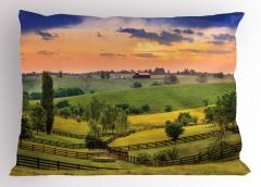 Çiftlik Evi ve Orman Yastık Kılıfı Yeşil Turuncu