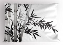 Siyah Beyaz Bambu Yastık Kılıfı Şık