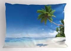 Tropik Ada Yastık Kılıfı Tropikal Ada