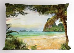 Doğal Bir Cennet Yastık Kılıfı Kumsalda Dalgalar