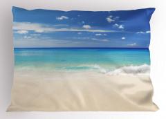 Kumsala Vuran Dalgalar Yastık Kılıfı Kumsalda Dalgalar Okyanus Beyaz
