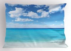 Tropikal Deniz Kenarı Yastık Kılıfı Tropikal Deniz Kenarı Bulutlar