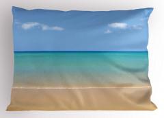 Egzotik Kumsal Yastık Kılıfı Egzotik Kumsal Turkuaz