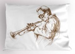 Caz Temalı Yastık Kılıfı Müzik Severler İçin