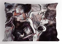Dans ve Müzik Temalı Yastık Kılıfı Şık Tasarım