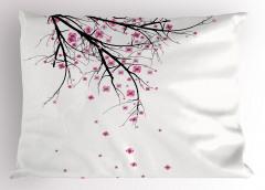 Kiraz Çiçekleri Temalı Yastık Kılıfı Şık Tasarım