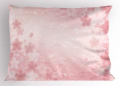 Pembe Kiraz Çiçeği Yastık Kılıfı Trend