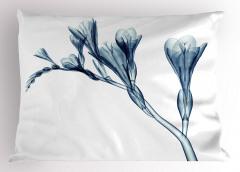 Mavi 3D Çiçek Desenli Yastık Kılıfı Dekoratif