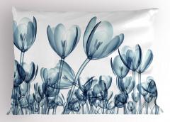 Dekoratif Lale Desenli Yastık Kılıfı 3D Çiçek