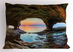 Mağara ve Gün Doğumu Yastık Kılıfı Deniz