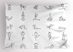 Yoga Pozisyonları Yastık Kılıfı Asya Felsefesi
