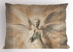 Heykel Desenli Yastık Kılıfı Melek Sanat Antik