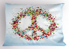 Rengarenk Kalp Desenli Yastık Kılıfı Barış Şık
