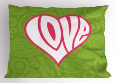 Sevgililer İçin Yastık Kılıfı Aşk Temalı Kalpli