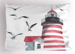 Deniz Feneri ve Kuş Yastık Kılıfı Trend