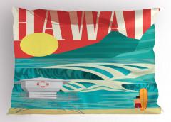Egzotik Tatil Yastık Kılıfı Okyanus Sörf Egzotik Tatil