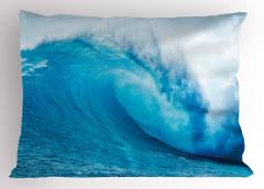 Okyanus Dalgaları Yastık Kılıfı Okyanus Dalgaları Sörf Mavi