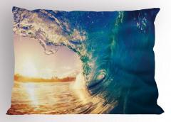 Okyanusta Gün Doğumu Yastık Kılıfı Gün Doğumu Sörf