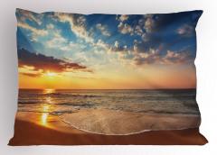 Denizde Gün Batarken Yastık Kılıfı Deniz Gün Batımı