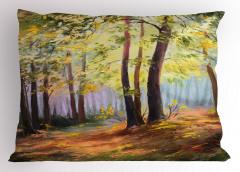Orman ve Doğa Yastık Kılıfı Orman Yeşil Doğa
