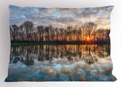 Göle Yansıyan Bulutlar Yastık Kılıfı Romantik