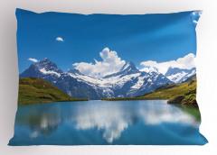 Karlı Dağlar Yastık Kılıfı Karlı Dağlar Mavi