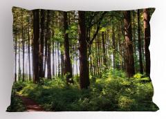 Yemyeşil Orman Yastık Kılıfı Ağaç Yeşil Orman