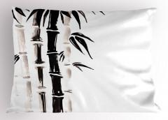 Siyah Beyaz Bambu Yastık Kılıfı Trend