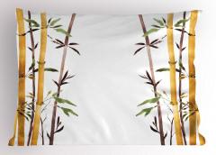 Bambu Desenli Yastık Kılıfı Çeyizlik Şık Tasarım
