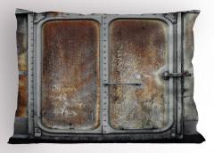 Tren Temalı Yastık Kılıfı Nostaljik Şık Tasarım