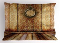 Nostaljik Saat Yastık Kılıfı Antik Nostaljik Retro