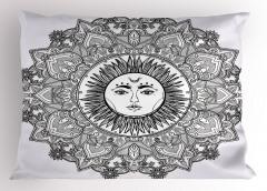 Güneş Tanrısı Desenli Yastık Kılıfı Güneş Tanrısı Desenli
