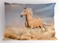 At ve Toprak Yastık Kılıfı Kahverengi Trend